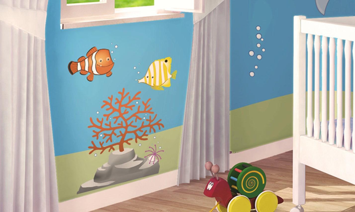 Stickers murali bambini cameretta in fondo al mare - Decorazioni murali camerette ...